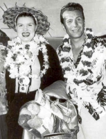 Ferlin Husky (left) with Patsy Cline.