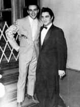 Farong Young (left) with Elvis Presley, a singer.