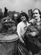 Dan dugmore with James Taylor and Oscar the Grouch